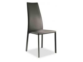 Chaise haut de dossier pour séjour design en cuir