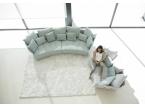 Canapé contemporain arrondi