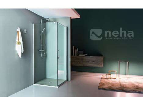 Porte de douche battante + fixe