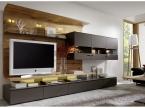 Meuble TV design Bois et laque
