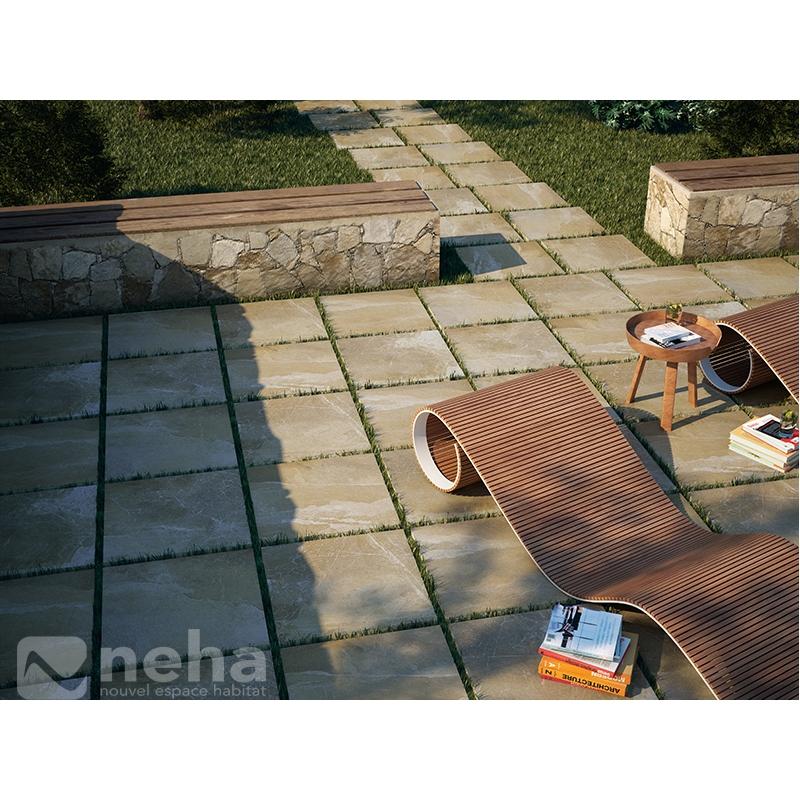 dalle exterieur poser au sol pour terrasse ou jardin 60. Black Bedroom Furniture Sets. Home Design Ideas