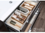 Compartiment de rangement tiroir salle de bain