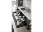 Meuble double tiroir pour salle de bain anthracite