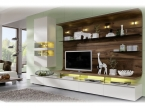 Element composable TV Design bois et laque blanc