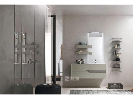 Meuble salle de bain sans poignées