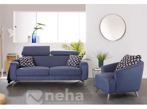Canapé moderne pieds métal