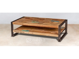 Table basse industrielle rectangle