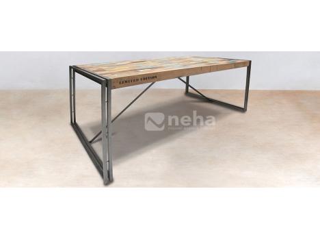 Neha table salle manger style industriel moderne et contemporaine - Table salle a manger style industriel ...
