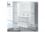 Meuble salle de bain a poser blanc rond 120cm