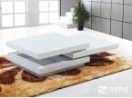 Table basse modulable blanche laque ouverte