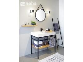 Ensemble salle de bain meuble à poser industriel