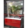 Meuble salle de bain rouge L120cm