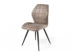 Chaise capitonné tissu gris clair