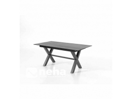 Table rectangulaire avec allonge centrale