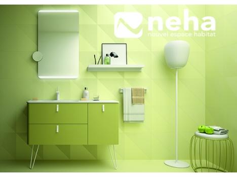 meuble de salle de bain retro vert pastel avec pieds. Black Bedroom Furniture Sets. Home Design Ideas
