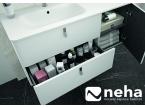 Tiroir meuble de salle de bain blanc