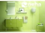 Meuble salle de bain coloris vert pastel effet rétro