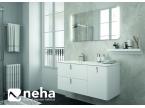 Meuble de salle de bain épuré blanc