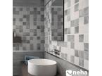 Salle de bain avec carreaux décor effet mosaique
