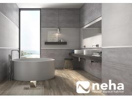 Salle de bain epurée grise