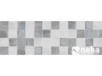 faience décor petits carreaux gris et blanc