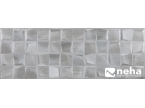 Faience effet mosaique grise 30x90cm