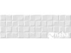 Salle de bain avec carreaux blanc mat effet mosaique