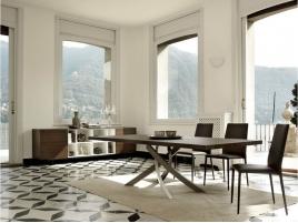 Table design rectangulaire Artistico avec allonges