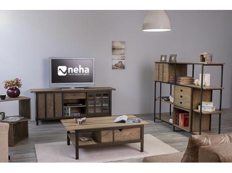 Meuble TV bois industriel