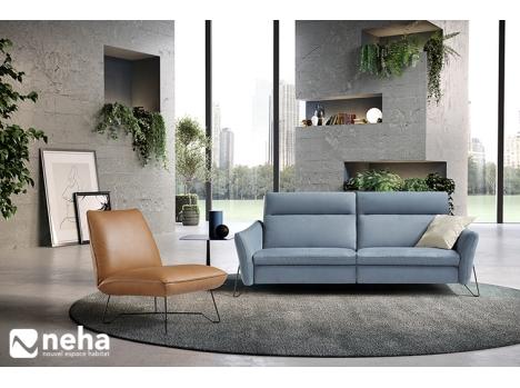 Canapé design piètement métal