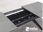 Mécanisme table de repas avec allonge