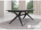Table pied métal noir design