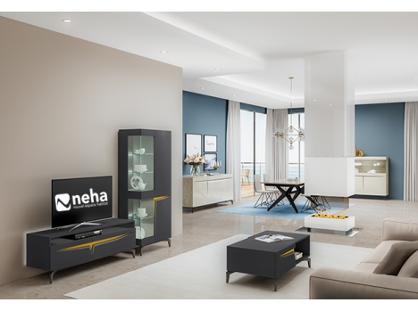 Meuble télé avec piètement métallique