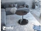 Table basse 3 plateaux en céramique acier