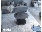 Table basse ronde avec plateau en céramique titane
