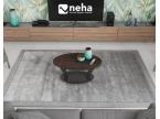 Table basse ovale plateau céramique acier