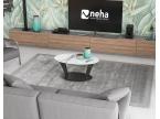 Table basse ovale plateau céramique marbre mat