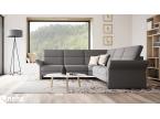Canapé d'angle en tissu gris personnalisable