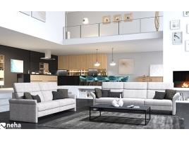 Canapé tissu gris moderne et chic