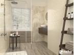 Salle de bain faience à motif beige