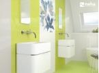 Salle de bain faience verte et blanche 85x25cm