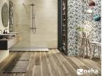 Salle de bain avec Faience relief épi multicouleur 120x40cm