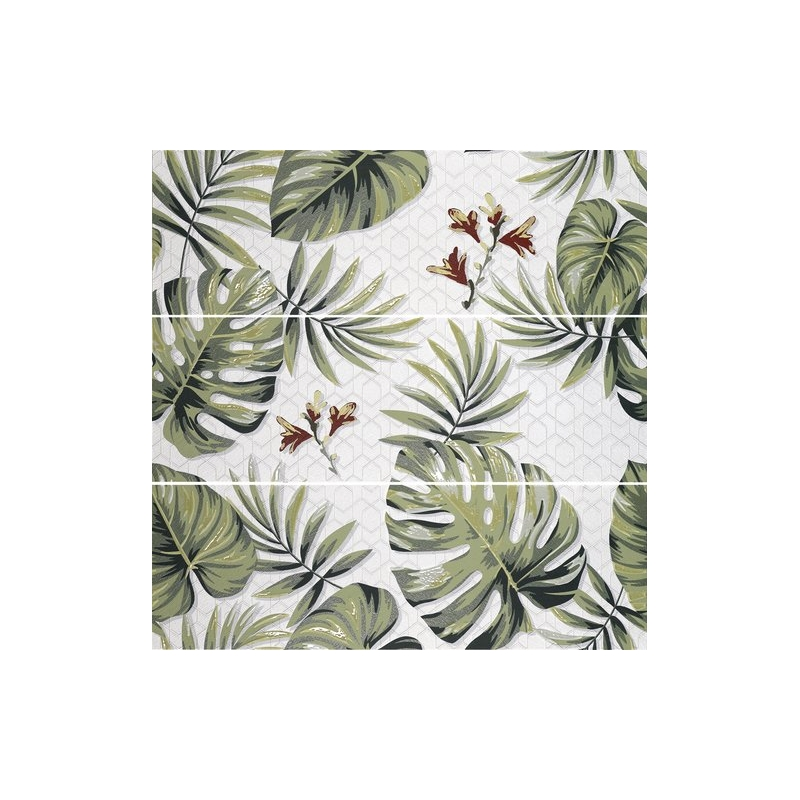 Faience Carreau Decor Effet Jungle 120x40cm Bords Rectifies Decoration