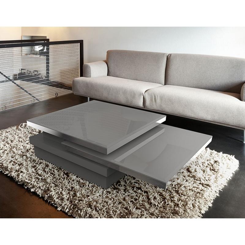 Table basse modulable par plateau amovible verre laqu Table basse modulable table haute