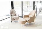 Petit fauteuil scandinave Miranda marque Fama