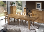 Salle à manger bois massif style rustique