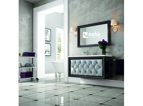 Meuble de salle de bain captionné