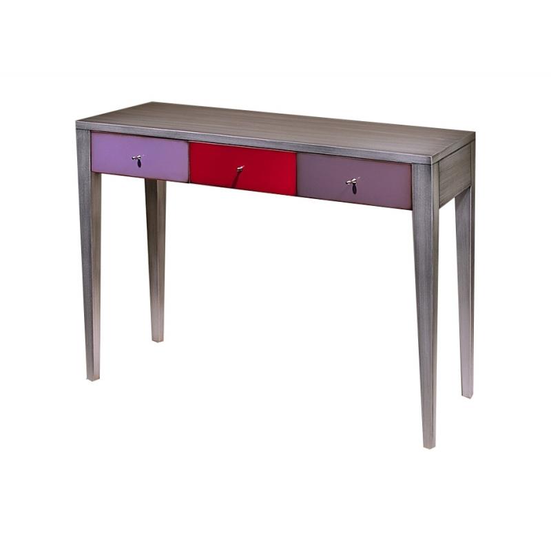 console 1 tiroir avec 3 coloris diff rents rangement meuble entr e. Black Bedroom Furniture Sets. Home Design Ideas