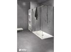 Carrelage sol salle de bain gris foncé modèle Stella