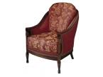 Canapé de style, copie d'ancien bois et tissu